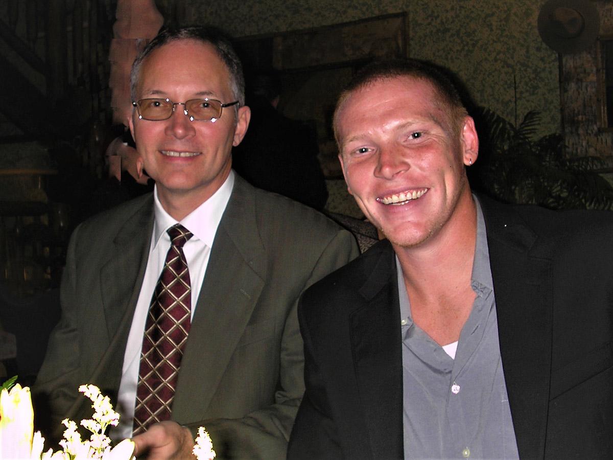 Brian Kayes (left) and Jordan Kayes